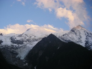 19 Mont blanc from Les Marmottes campsite