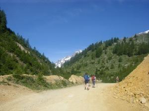 277 D8 path up Val Veni